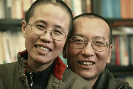 Liu Xiaobo, with his wife Liu Xia