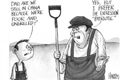 China Rich Emigration Cartoon