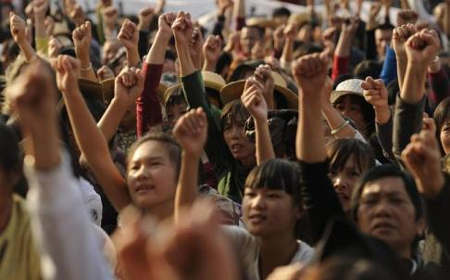Residents of Wukan rally over illegal land grabs