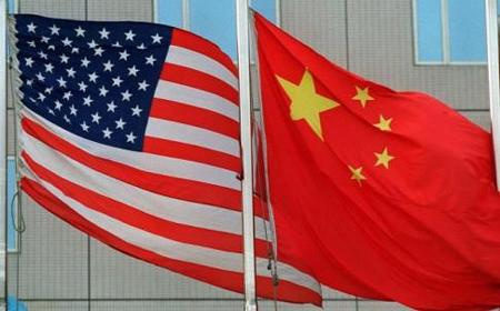 USA China Flags