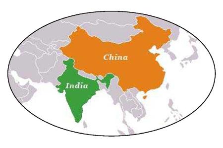 China India Map