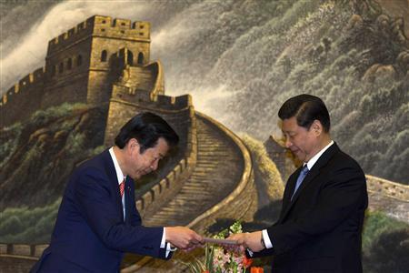 Natsuo Yamaguchi and Xi Jinping