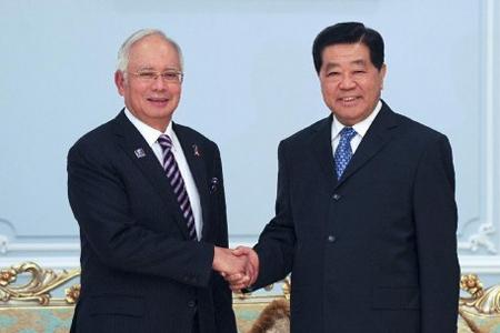 Najib Razak and Jia Qinglin