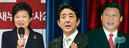 Park Geun-hye, Shinzo Abe, Xi Jinping