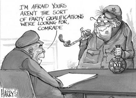 China Party Purge Cartoon
