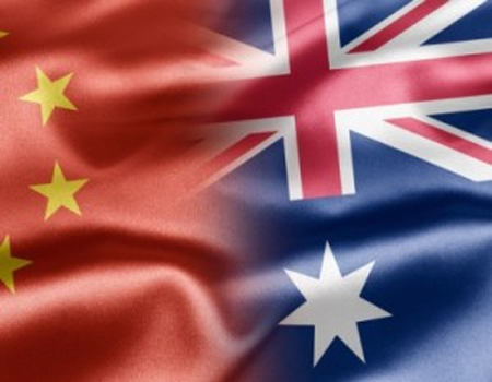 Australia China Flags