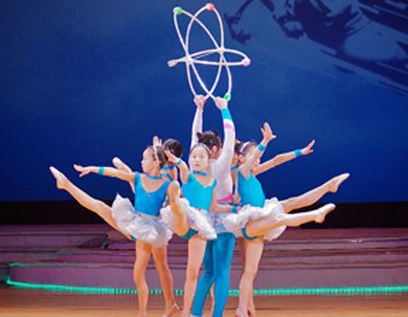 North Korean children perform a ballet celebrating the atom