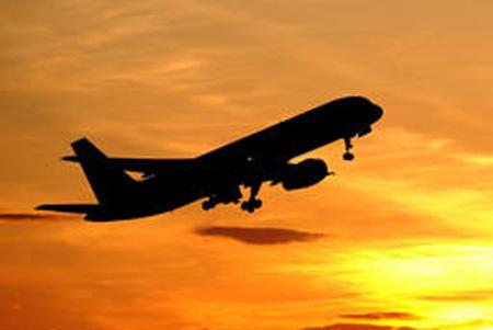 China Plane Sunset