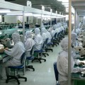 Factory workers in Shenzhen