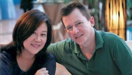 Suzanne Chin and her husband John Alabaster