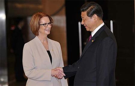 Julia Gillard and Xi Jinping