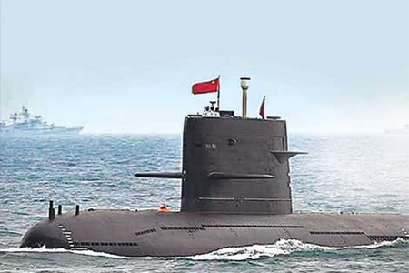 Chinese Submarine in the Indian Ocean