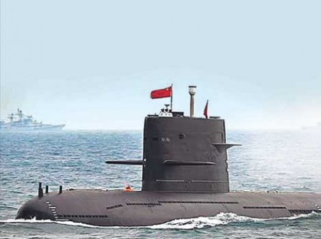 Chinese submarines in Indian Ocean
