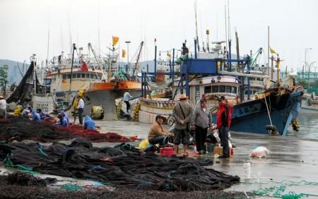 A port in Taiwan's Yilan County