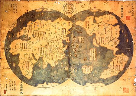 China 1418 World Map
