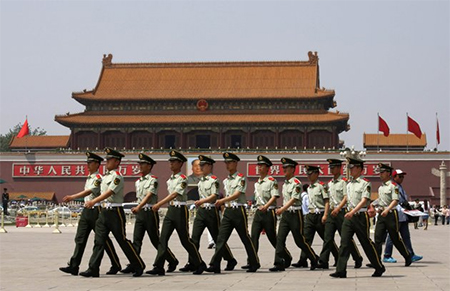 Tiananmen Square Security 2013