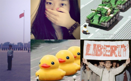 Photos posted Sina Weibo in memory of Tiananmen Protests