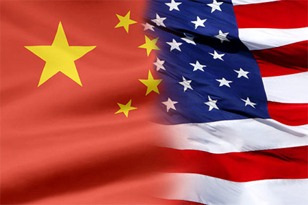 Flags China USA