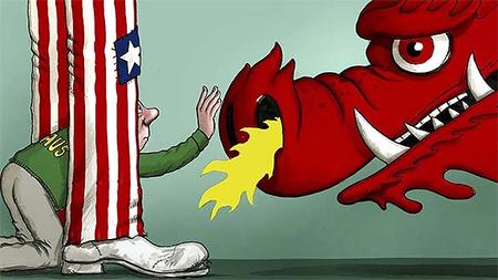 China USA Australia Cartoon