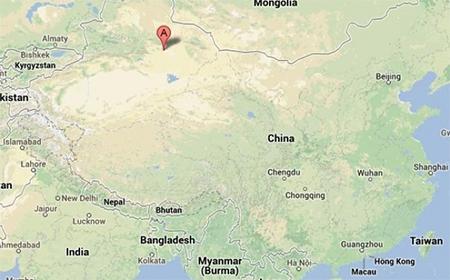 Map of Lukqun, Xinjiang