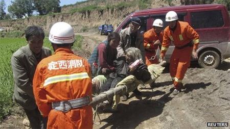 Gansu earthquake rescue operation under way