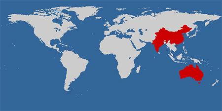 Australia China Map
