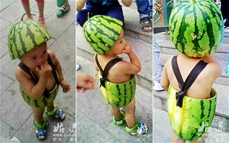 Watermelon armour, watermelon bikinis and hula-style outfits have all made an appearance online