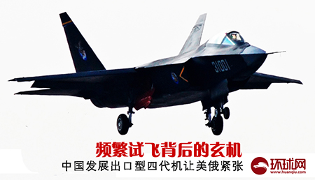 Contrivance behind frequent test flights: China's development of export-oriented fourth-generation fighter makes the US and Russia nervous