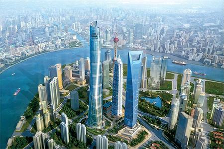 Artist's impression of Shanghai Tower