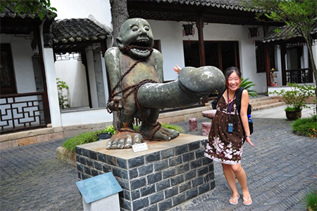 The statue outside Tongli Sex Museum