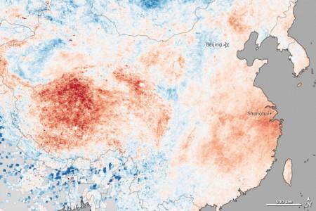 China - Land Surface Temerature Anomaly