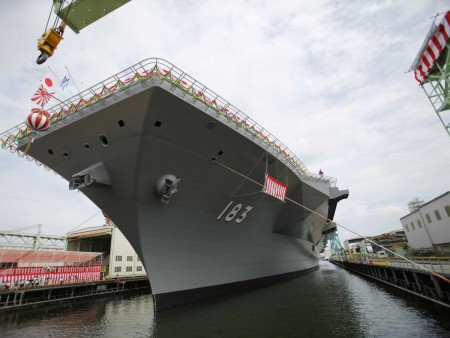 The Izumo has been in construction since 2009.