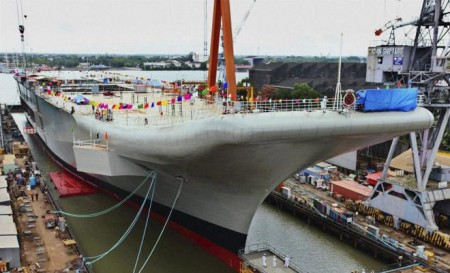 The 37,500 tonne carrier will undergo extensive trials in 2016 before being inducted into the Navy.