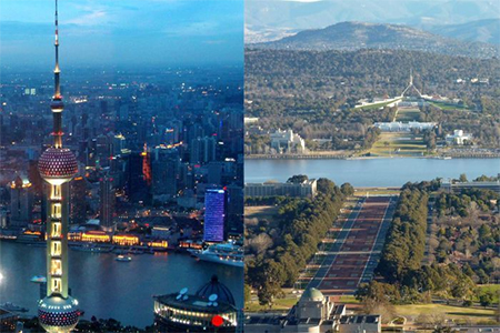 Shanghai and Canberra