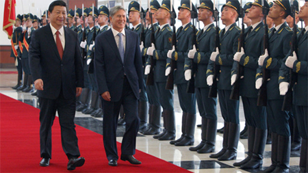 Xi Jinping inspecting the troops