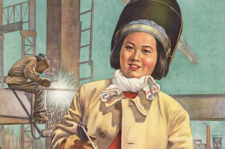 Chinese Women At Work Poster