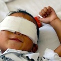 """Chinese six-year-old Guo Bin will be getting """"electronic eyes"""" after having his eyes gouged out in a cruel attack."""