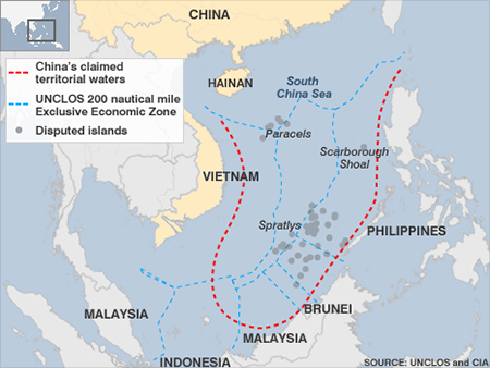 China's claim in the South China Sea
