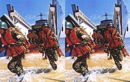 China Soldiers Landing