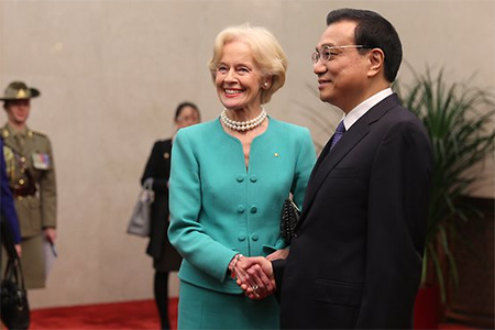 Quentin Bryce and Li Keqiang
