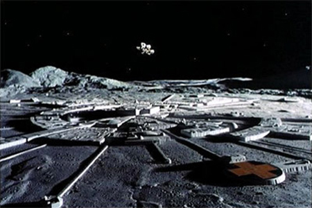 Moon Base Alpha as seen in Space: 1999