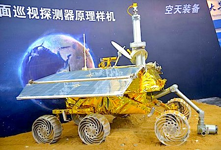 "The probe carried a six-wheeled moon rover called ""Yutu,"" or ""Jade Rabbit,"" the goddess' pet"