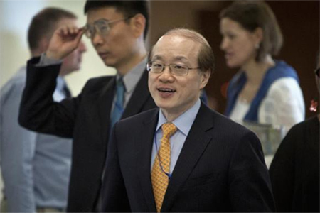 China's Ambassador to the United Nations Liu Jieyi arrives for a meeting of the five permanent members of U.N. Security Council in New York