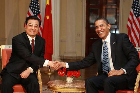 President Obama and China's former President Hu Jintao