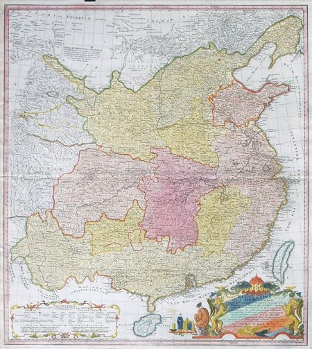 The 1735 d'Anville map showing ''China Proper''
