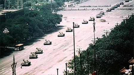 """Tank Man"" at Tiananmen Square 1989"
