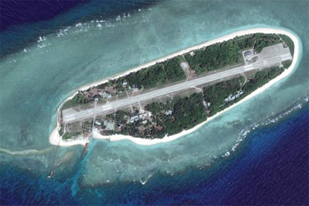 Taiping Island, the largest of the Spratly Islands