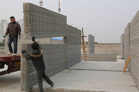 House in China built by using a 3D printer