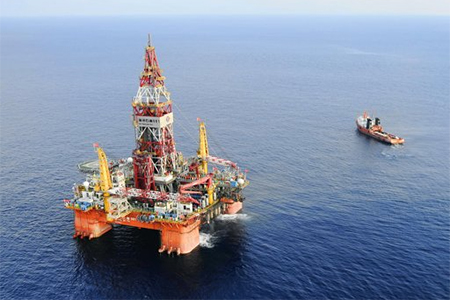 Oil rig in the South China Sea