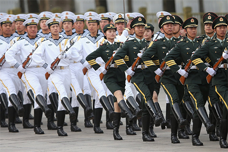 China's military budget is the second largest in the world, behind that of the United States